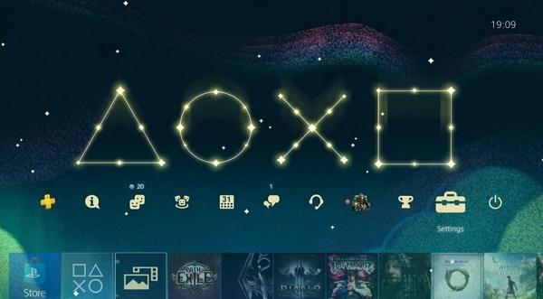 سوني ترسل ثيم ديناميكي رائع للاعبين على جهاز PS4