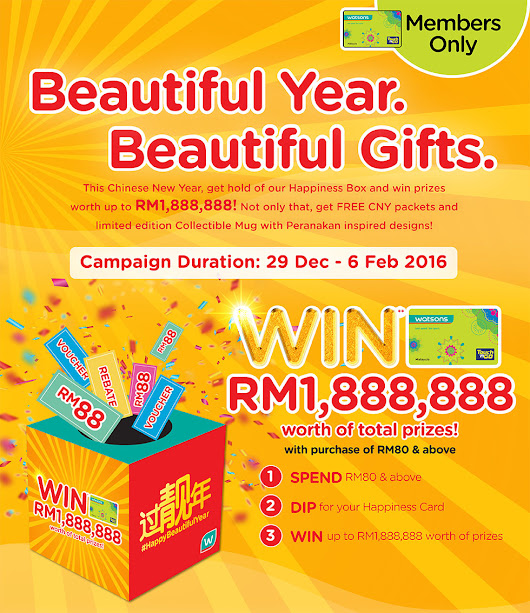 Cindy's Planet: Malaysia Beauty, Fashion & Travel Blog: #HAPPYBEAUTIFULYEAR WITH WATSONS!