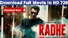 Radhe full movie download 2020