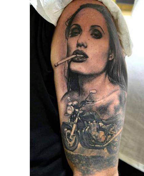 cool biker tattoos ideas  men  women  tattoosboygirl