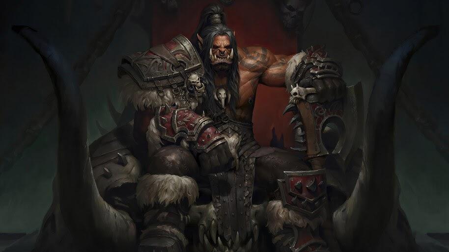 Grom Hellscream, Orc, World of Warcraft, 4K, #3.2706
