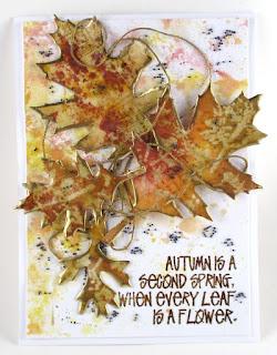 Sizzix Tim Holtz Tattered Leaves Stampers Anonymous Music & Advert Stampers Anonymous Wildflowers Ranger Distress Inks, Vintage Beeswax For the Funkie Junkie Boutique