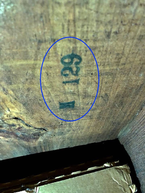 visible mark on pre-cut lumber in Sears kit house in Pennsylvania