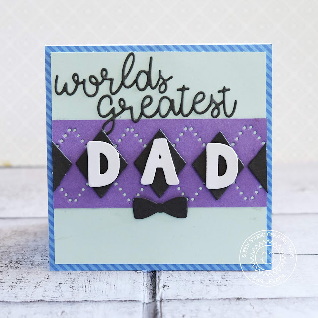 Sunny Studio Stamps: Sweater Vest Dies Loopy Letters Dies Father's Day Masculine Cards by Rachel Alvarado and Lexa Levana