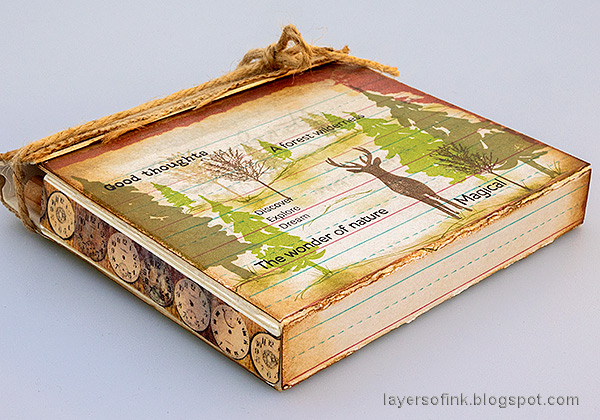 Layers of ink - Nature Journal and Box Tutorial by Anna-Karin Evaldsson. With Eileen Hull Sizzix Folio die.
