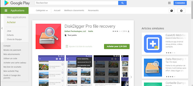 1 app to recover deleted files for Android DiskDigger Pro file recovery for free