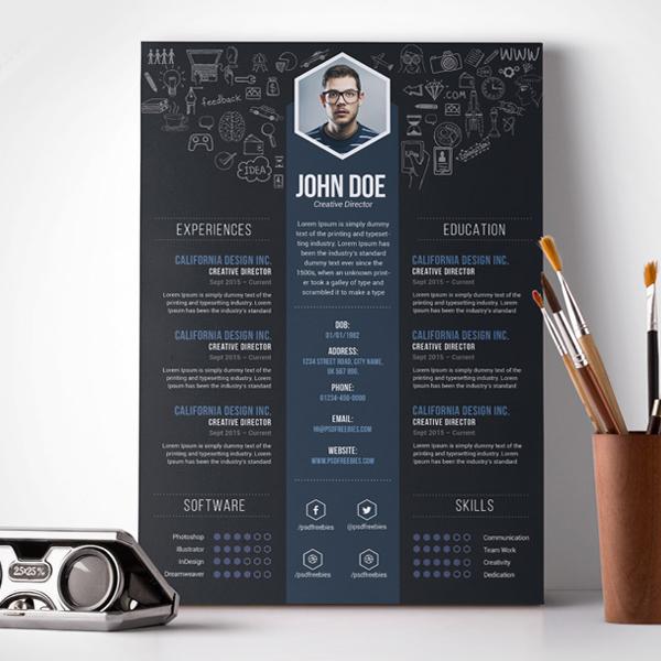 20 plantillas creativas y gratis para que tu currículum sea del otro ...