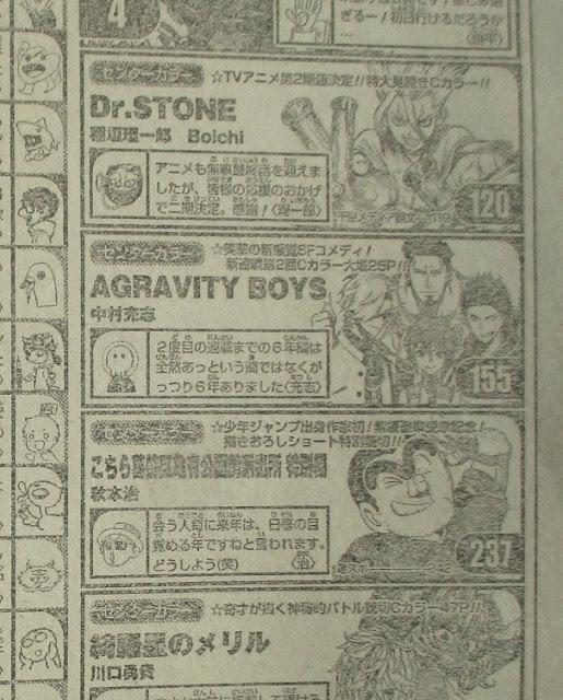 A través de un scan nos llega la confirmación de una segunda temporada para la adaptación a serie anime televisiva para Dr. STONE, obra original de Riichiro Inagaki y Boichi.