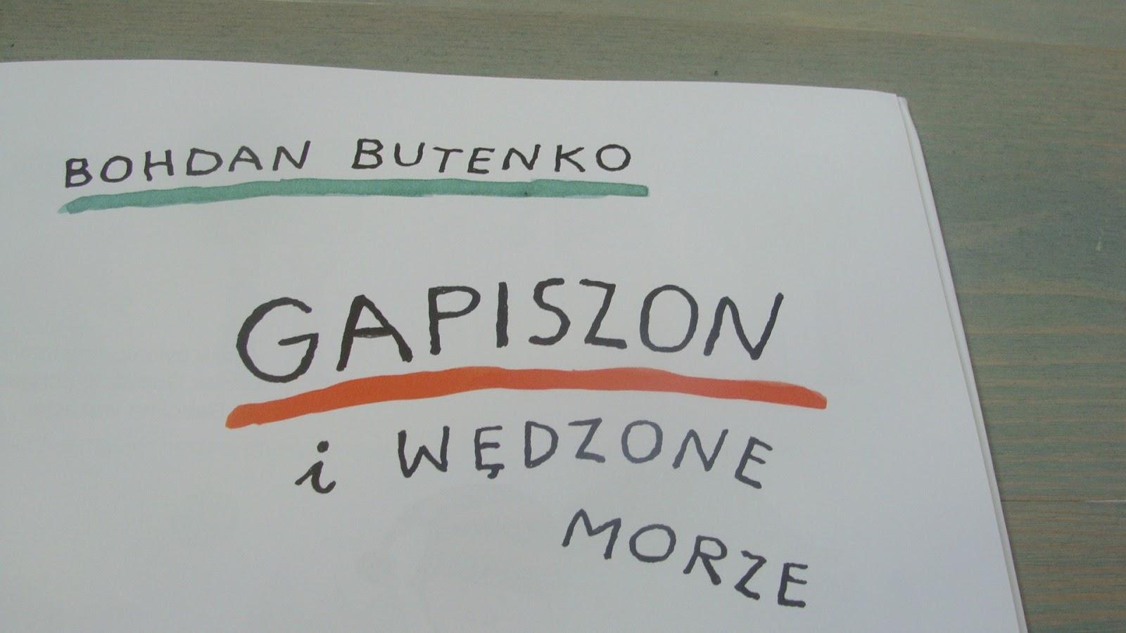 Mała duża historia o jutrze, Gapiszon i wędzone morze, wydawnictwo dreams