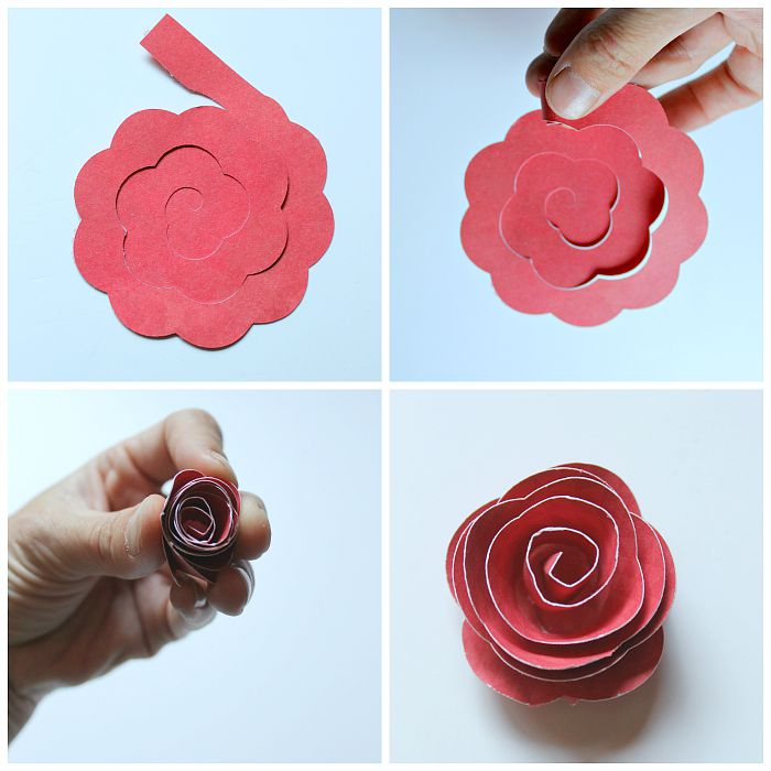 Rolled paper flower shadowbox occasionally crafty for Rolled paper roses template