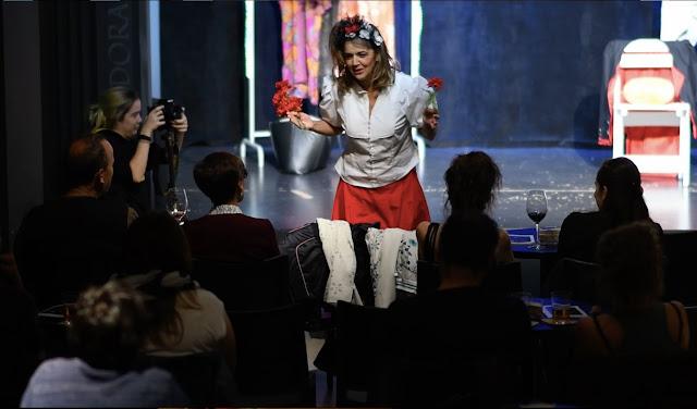 Muerte accidental de una payasa, teatro, clown, tragicomedia, payasa, actriz Raquel Martínez, angosta di mente