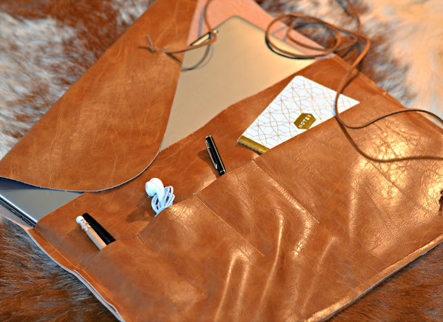 easy to make, laptop sleeve, faux leather
