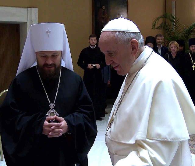 Um desígnio sinistro levou o representante russo HIlarion ao Vaticano.
