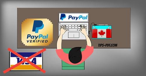 طريقة فتح حساب باي بال PayPal كندي مفعل دون بطاقة بنكية