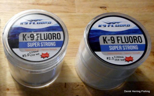 Derek herring fishing k 9 fluorocarbon line review for K9 fishing line