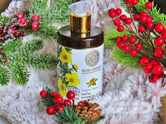 Naturalny nawilżający żel pod prysznic z herbatą kurylską Flora Siberica, naturalny żel pod prysznic, Flora Siberica żel, Natura Siberica kosmetyki,