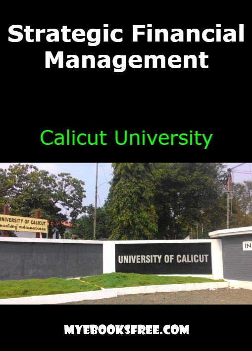 Strategic Financial Management Book by Calicut University PDF Download