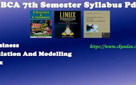 BCA 7th Semester Syllabus Pdf