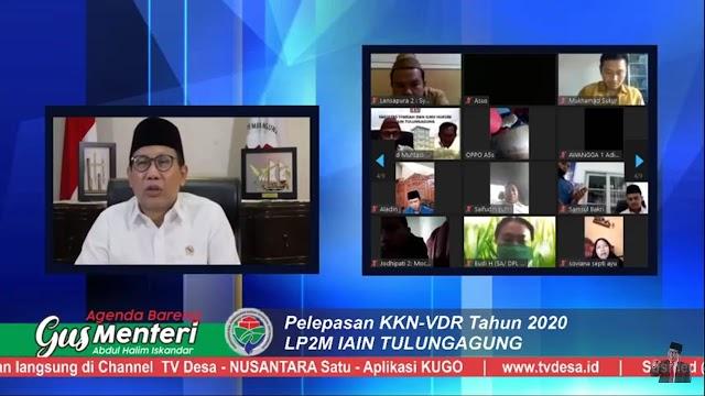 KKN Virtual IAIN Tulungagung Dilepas Menteri Desa, Pembangunan Daerah Tertinggal dan Transmigrasi