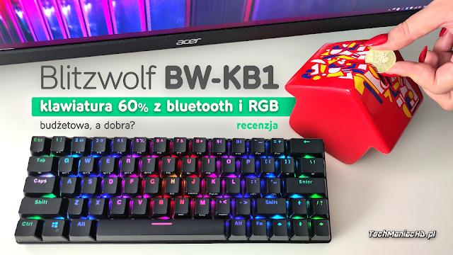 BlitzWolf BW-KB1, czarna, przełączniki Red od Gateron