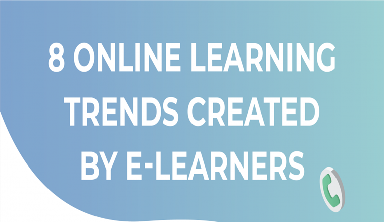 8 Online Learning Trends Created By eLearners #infographic