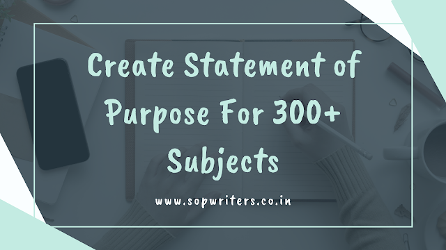 Statement of Purpose Writing Services