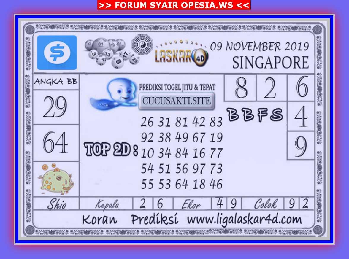Kode syair Singapore Sabtu 9 November 2019 48