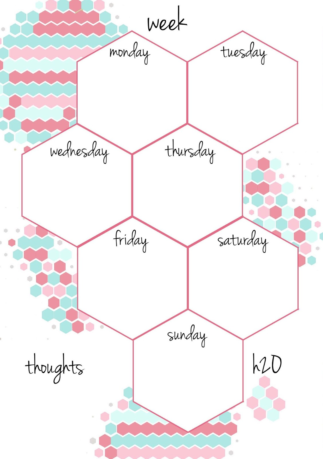 Pb And J Studio Free Printable Planner Inserts Candy Hexagon In A5
