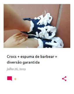 colocar espuma de barbear nas crocs e depois calçá-las