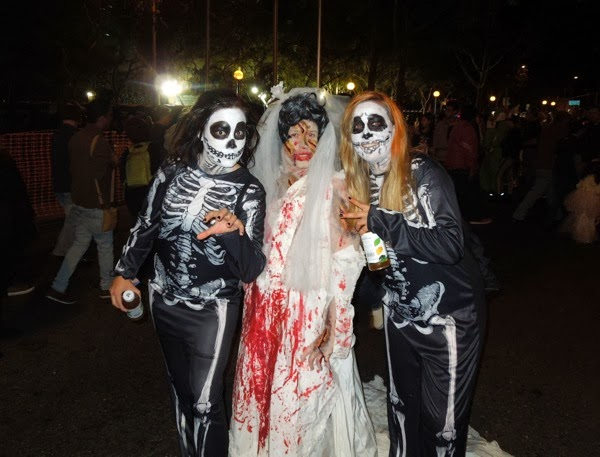West Hollywood Halloween Carnaval skeleton costumes 2013