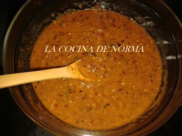 SALSA DE CHILES CATARINOS CON CHARALES (RECETA DE GABY)