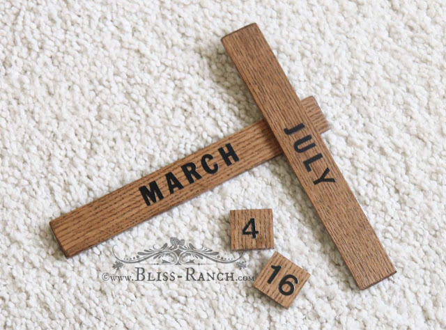 Thrift Store Decor Wood Birthday Calendar, Bliss-Ranch.com
