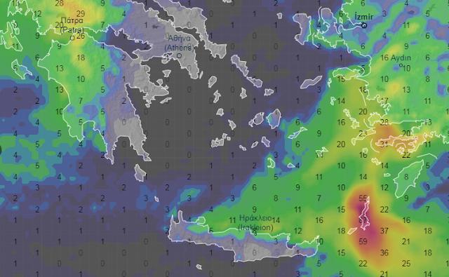 ellada2 - Καιρός 1-3/4/2020 Τοπικές μπόρες και λίγες καταιγίδες