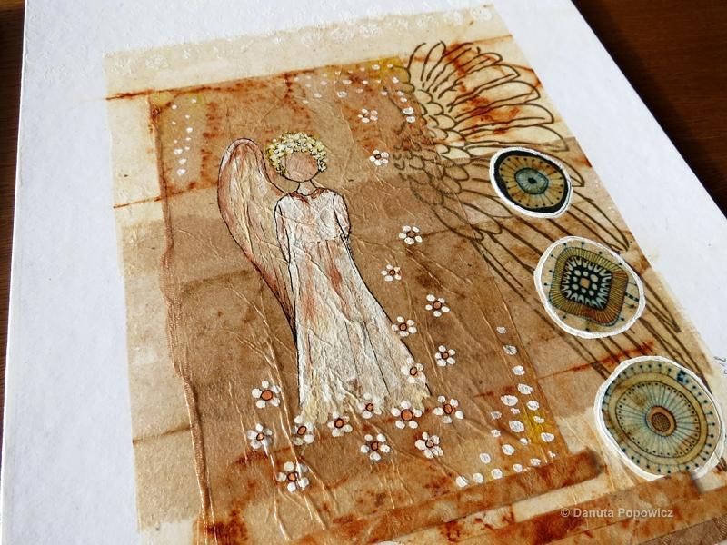 Herbaciane kolaże, anioł