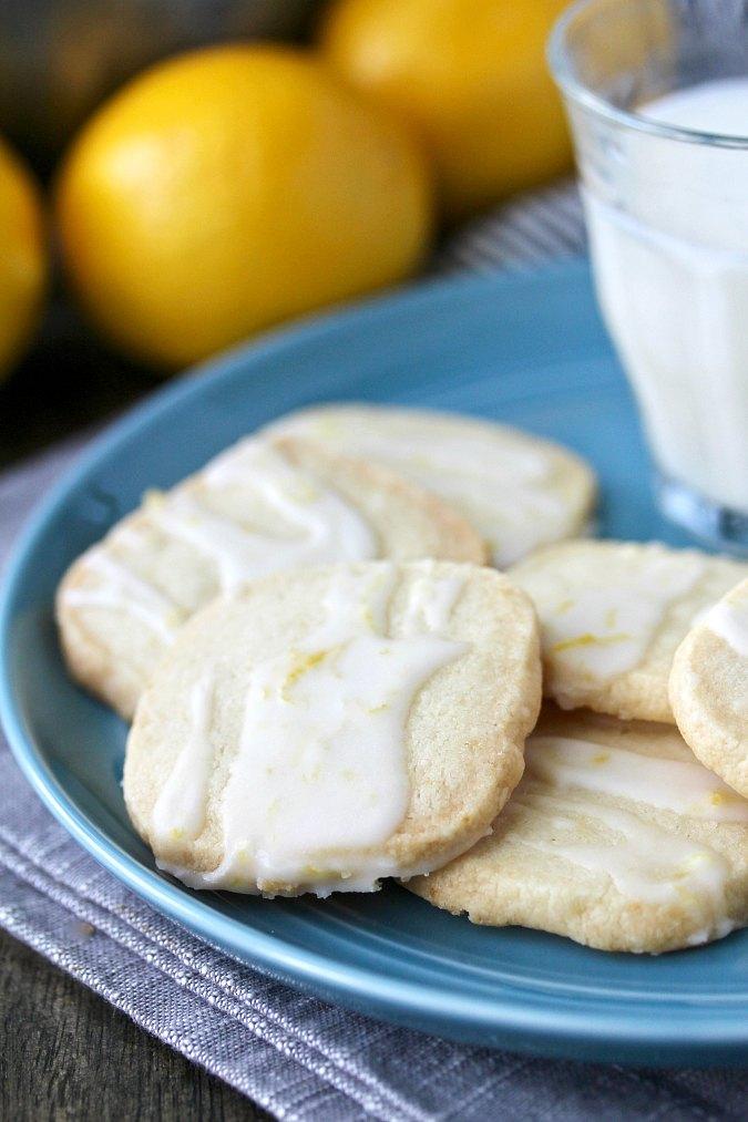 Slice and Bake Lemon Shortbread Cookies