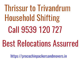 Thrissur to Trivandrum House Shifting