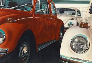 pinturas-de-automóviles-con-esencia-del-hiperrealismo hiperrealistas-lienzos-de-carros-pintados