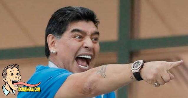 La primera foto del Drogadicto Maradona tras ser dado de alta