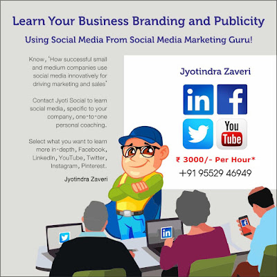 Social Media personal coaching for senior entrepreneurs by Jyotindra Zaveri