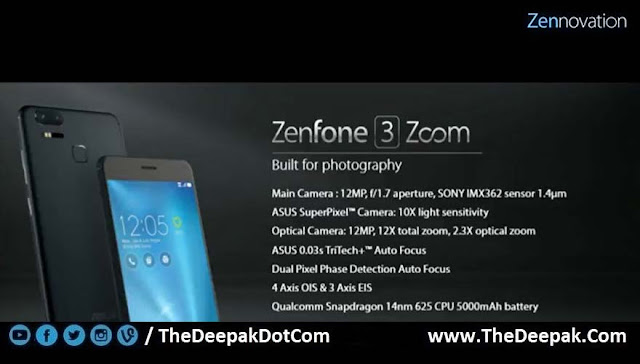 ZenFone 3 Zoom complete specification