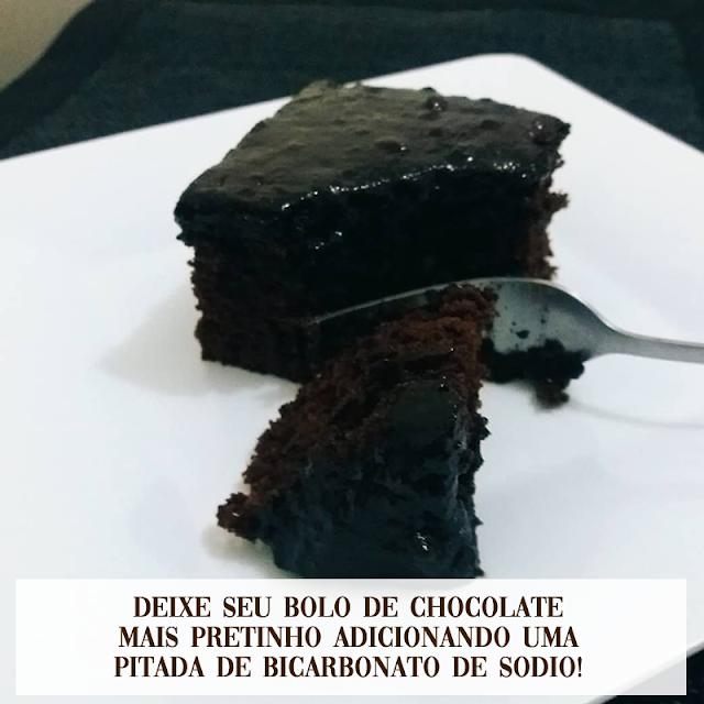 Bolo de chocolate pretinho