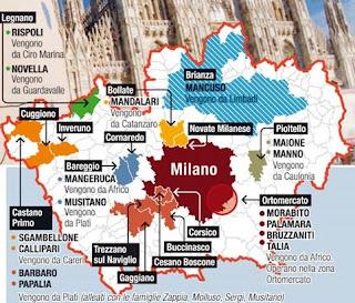 влияние калабрийской мафии в Милане