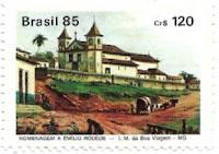 Selo Vista do largo da Matriz de Nossa Senhora da Boa Viagem de Belo Horizonte.