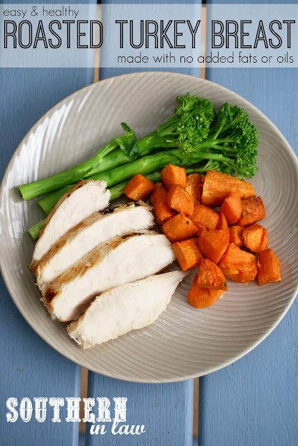 Roasted Turkey Breast without Oil - Healthy Turkey Recipe