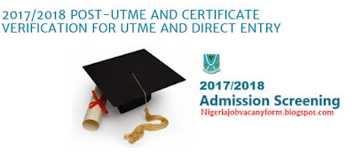 2017/2018 Ebsu UTME AND CERTIFICATE VERIFICATION FOR UTME AND DIRECT ENTRY is Out