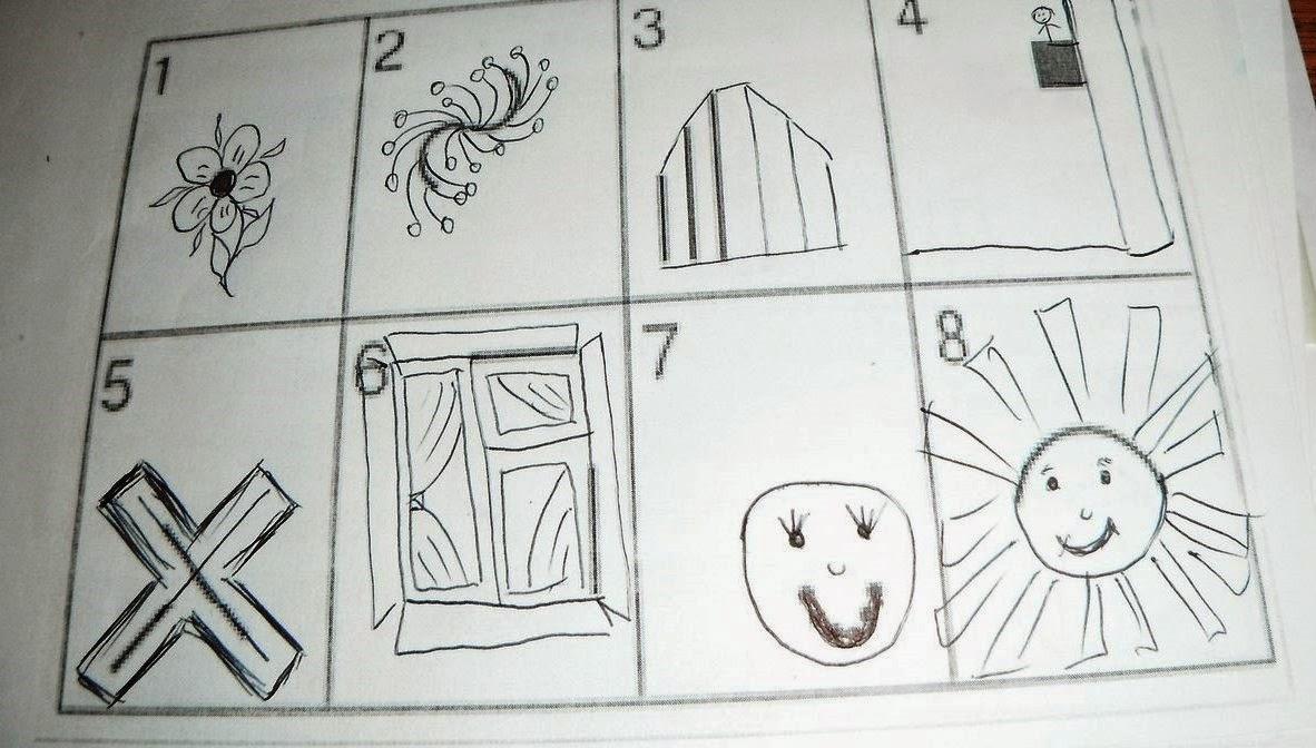 тесты по психологии дорисовать картинки нажатия эту кнопку