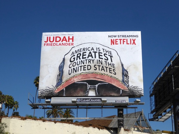 America Greatest Country in United States Judah Friedlander billboard