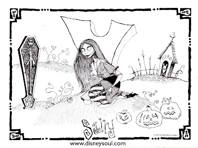Nightmare Before Christmas Disney Coloring Pages Colorings Net