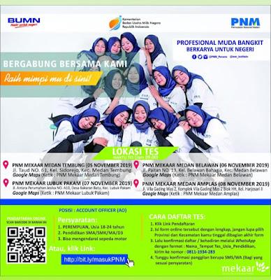 Lowongan Kerja Daerah Medan November 2019 SMA/SMK D3 BUMN PT PNM