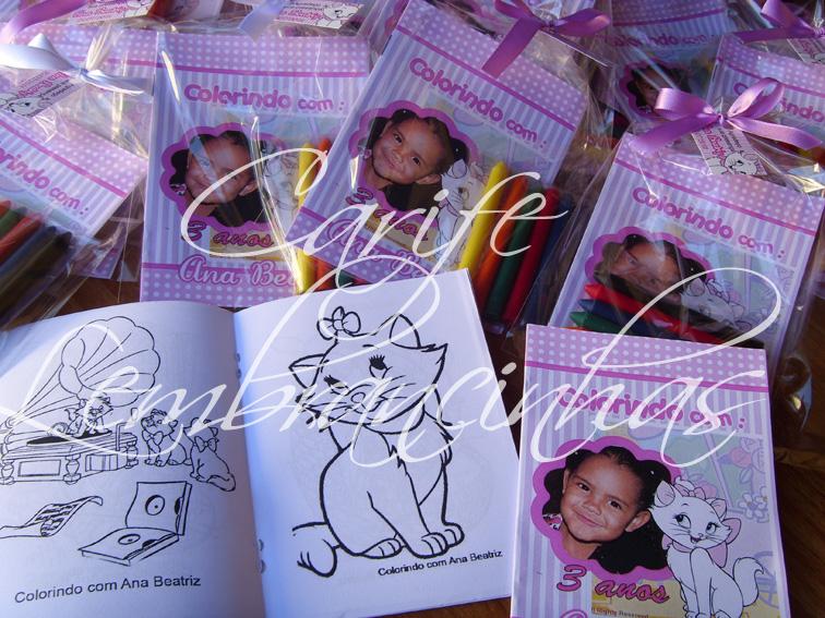 Livro De Colorir Gatinha Marie Lembranca Aniversario Infantil